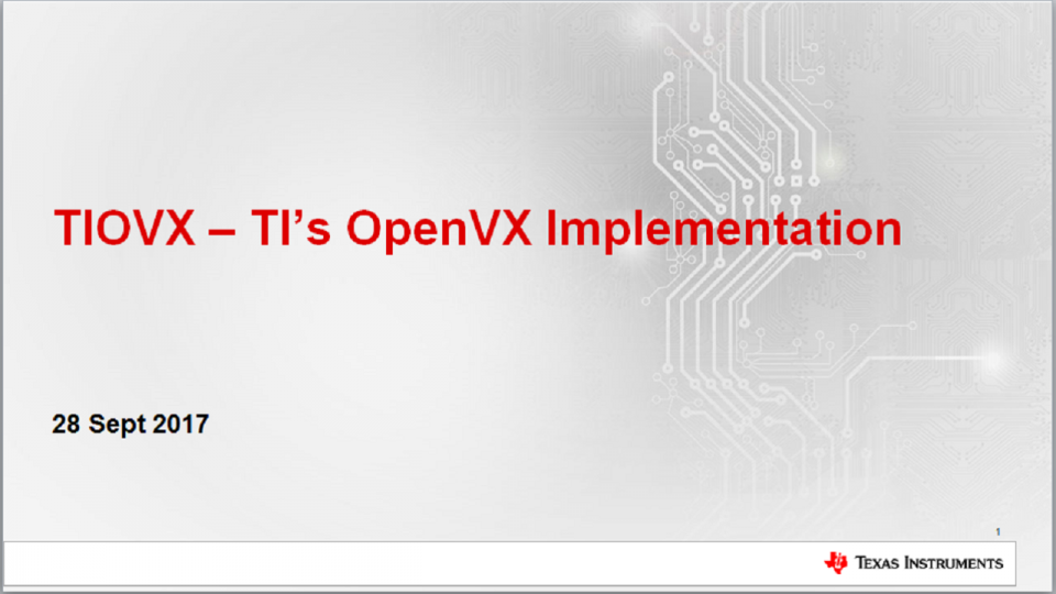 OpenVX implementation on TI TDA ADAS SoCs