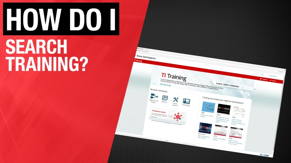 Training.ti.com search