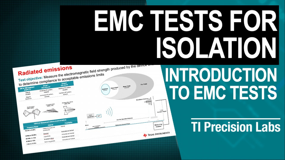 EMC tests for isolation