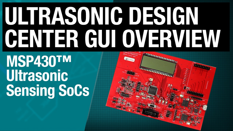 Ultrasonic design center GUI with the MSP430FR6043 MCU for gas metering