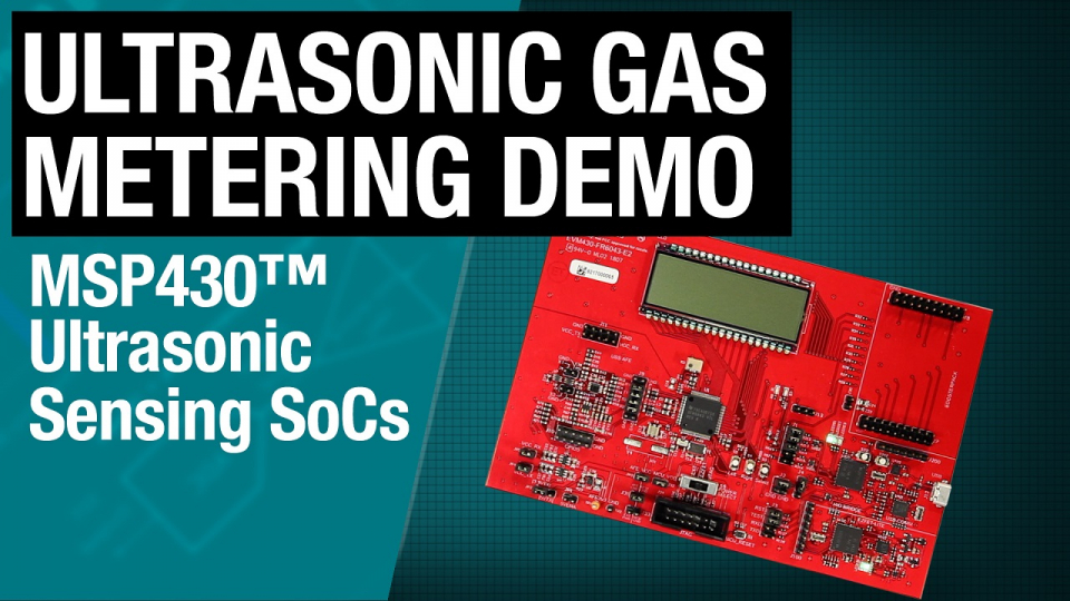 Demonstration of the EVM430-FR6043 ultrasonic gas flow meter EVM