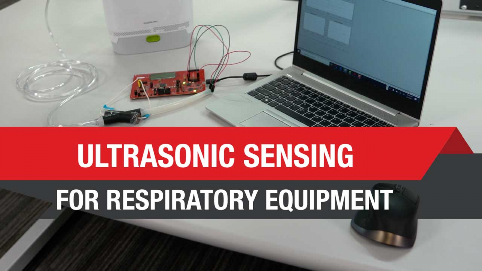 Ultrasonic sensing demo for respiratory equipment