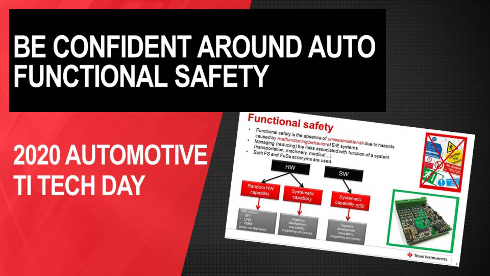 Be confident around automotive functional safety