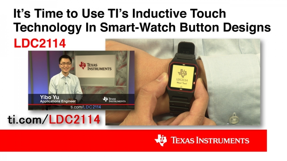 Designing Inductive Touch Buttons for a Smartwatch with LDC2114