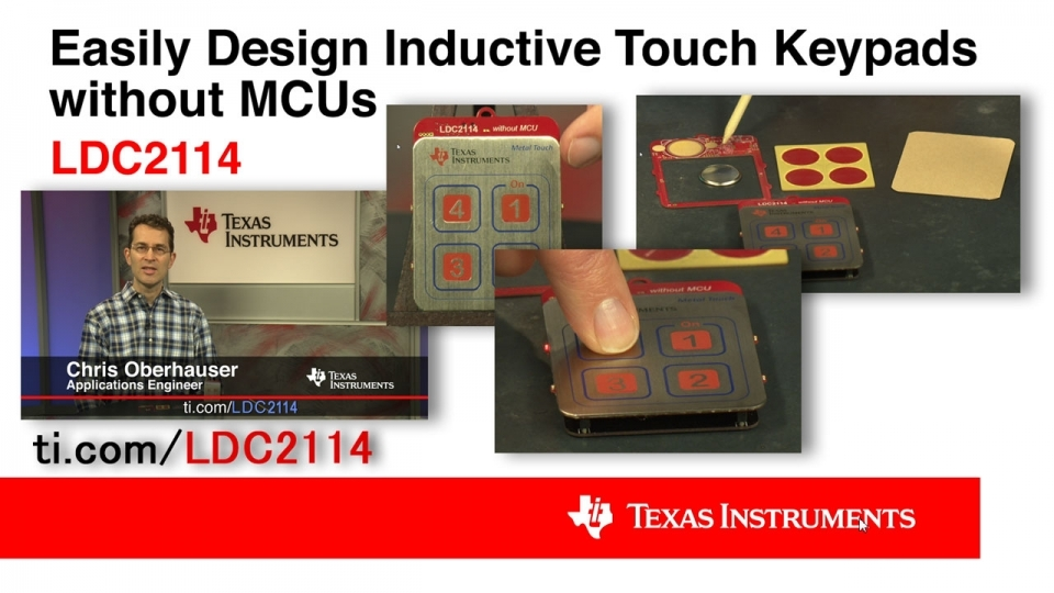 Easily design inductive touch keypads with inductive touch