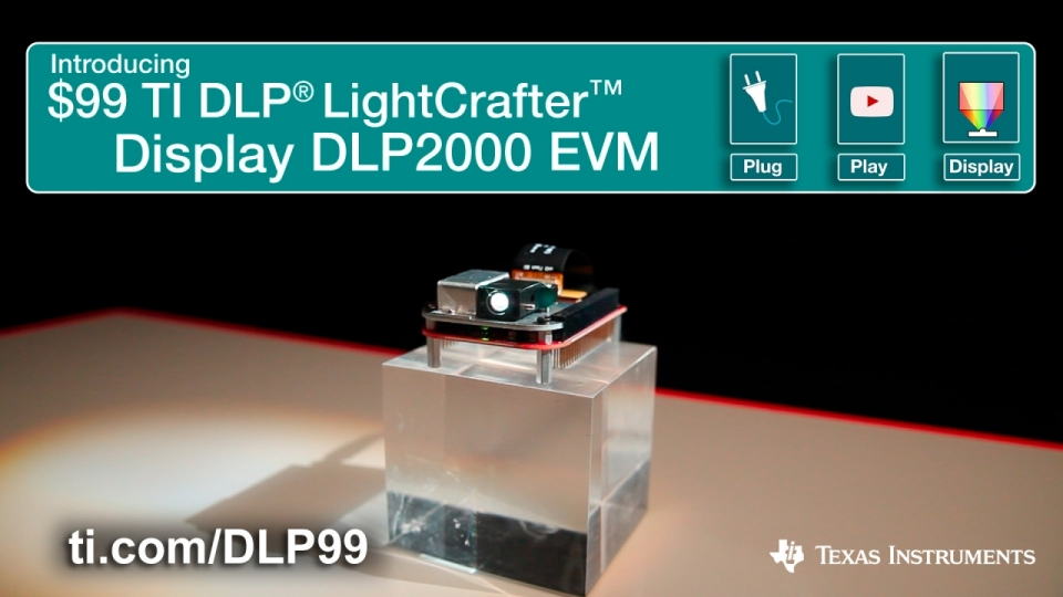 DLP nHD Lightcrafter Display DLP2000 $99 EVM optical engine