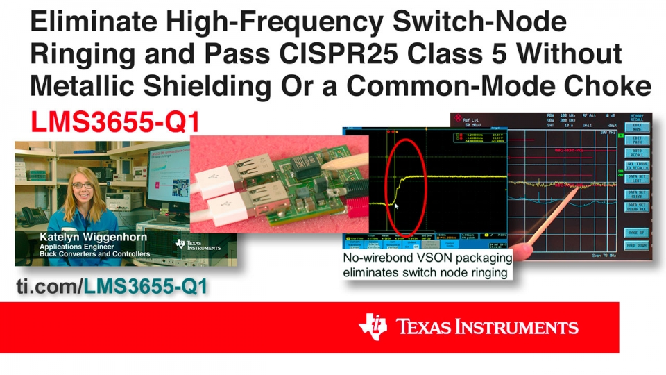 Eliminate High-Frequency Switch-Node Ringing and Pass CISPR 25 Class 5 without Metallic Shielding or a Common-Mode Choke