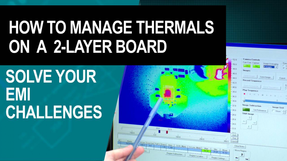 Enhanced thermals and EMI with 2-layer