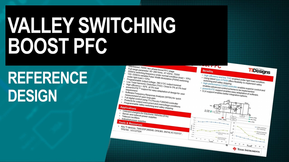 Valley Switching Boost Power Factor Correction (PFC) Reference Design