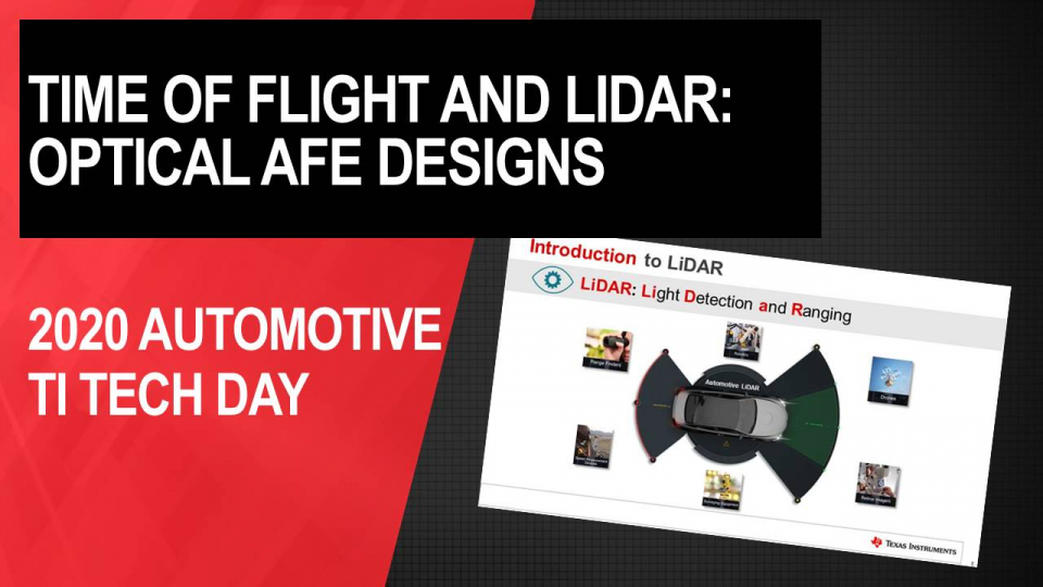 Time of Flight & Lidar - Optical Analog Front-End Design Solutions