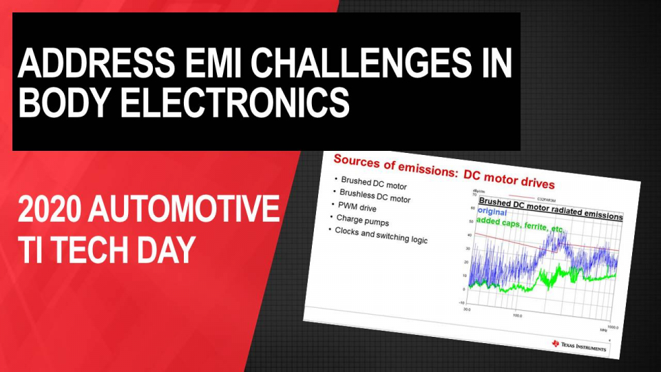 Addressing EMI challenges for high side switches and motor drivers in body electronics