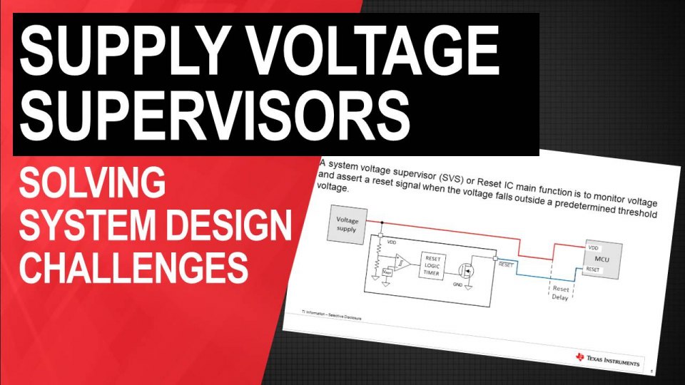 Applications of voltage supervisors (reset ICs)