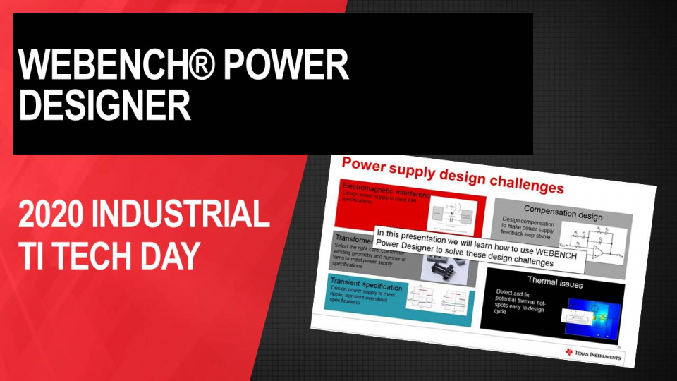 WEBENCH® Power Designer : Power supply design made easy