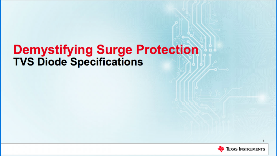 surge protection solution trainingt