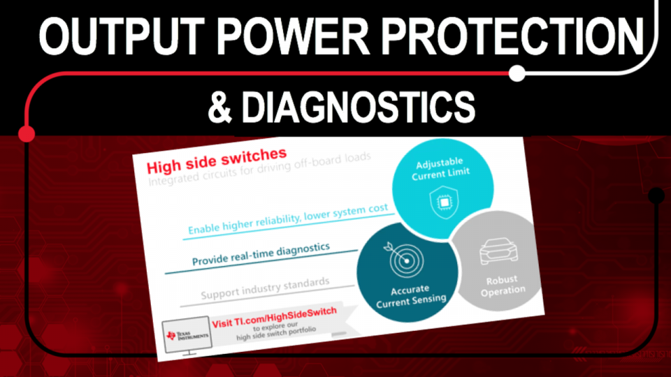 protection and diagnostics using a high side switch