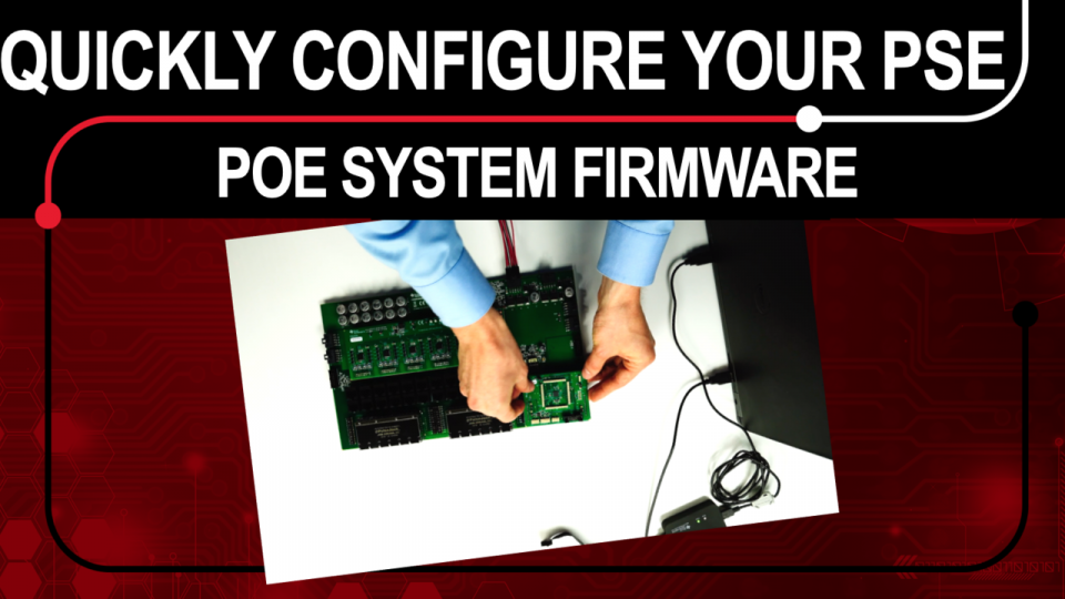 power over ethernet power sourcing equipment firmware and GUI