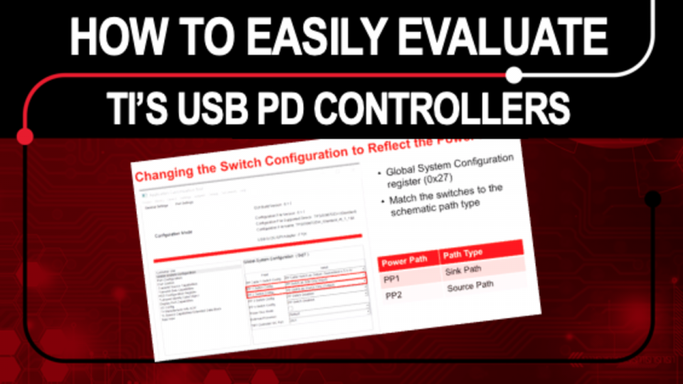 How to easily evaluate TI's USB-C Power Delivery Controllers