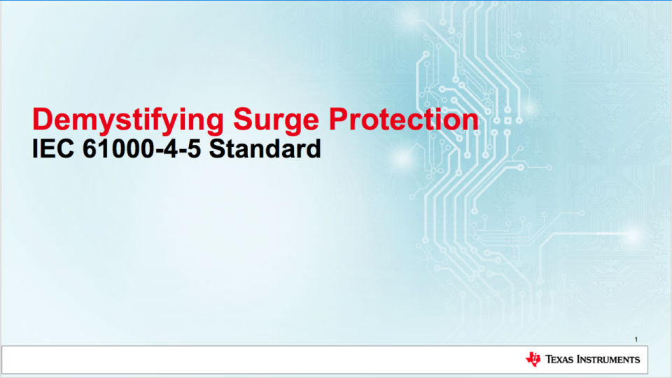 surge protection solution training